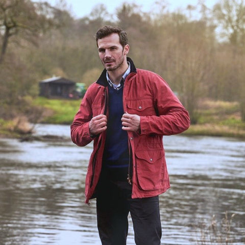 Barbour Skipton- Casual Jacket-Mens Red-MCA0532RE51