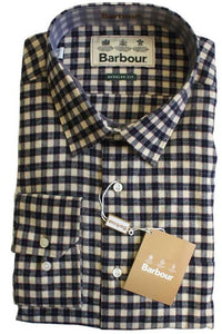Barbour mens Shirt Snipe in Light Stone MSH3741ST15