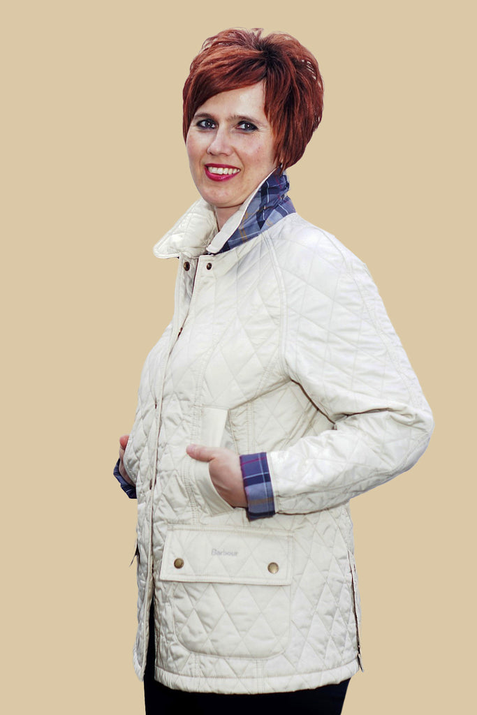 a907a017e92 Buy your Barbour new Summer Beadnell quilted jacket in PEARL at ...