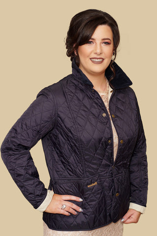 Barbour Summer Liddesdale Ladies Quilt Jacket in Navy LQU0236NY91