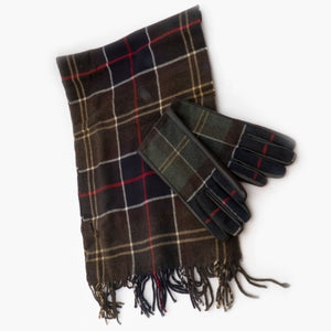 Barbour Christmas Set-Scarf and Gloves-Classic Tartan-LGS0003TN11