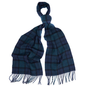 Barbour Scarf-Blackwatch-Tartan-Lambswool-Scarf-USC0001NY91 tassle