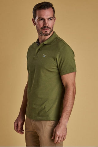 Barbour Polo- Tartan Pique-Burnt Olive-MML0012OL39