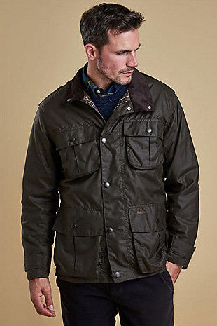 Barbour Trooper Mens Olive Green Wax Jacket MWX0019OL71