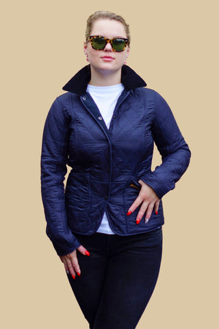 Barbour Ladies Liddesdale Polarquilt Jacket in Navy LQU0363NY91