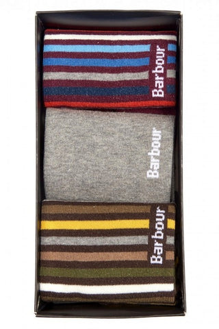 Barbour Socks Heywood Giftbox Selection 3 pairs MAC0189MI11