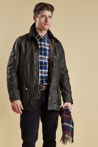 Barbour Ashby mens jacket in Olive green MWX0339OL71