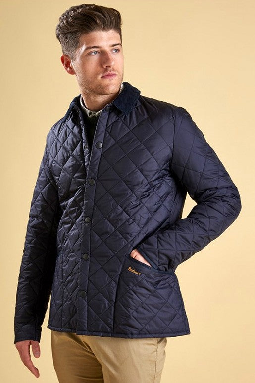 Barbour Quilt Liddesdale Mens Jacket In Navy MQU0001NY91