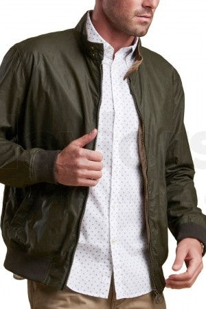 BARBOUR LIGHTWEIGHT ROYSTON-WAXED COTTON JACKET -Olive-MWX1350L51