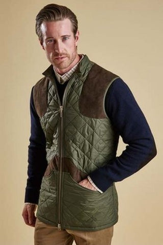 Barbour Brearton Gilet in Olive MQU0610OL71