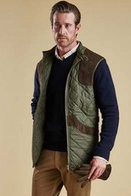 Barbour Brearton mens Gilet in Olive MQU0610OL71