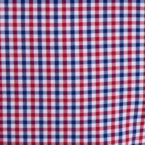 Barbour Shirt-Gingham-Navy/Red-16 Tailored-MSH4700RE51 pattern
