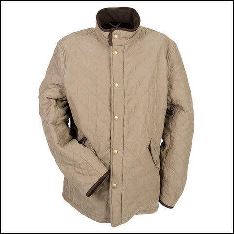 Barbour Bowden Mens quilt in Light Olive