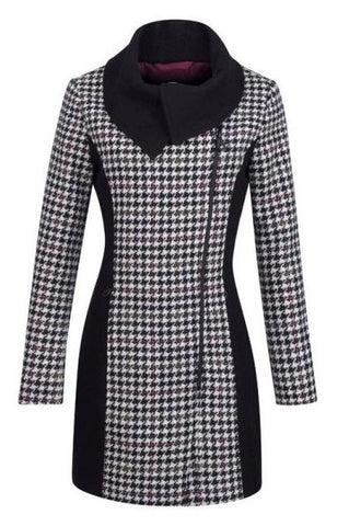 Jack Murphy Ladies Chelsea Tweed Coat in Houndstooth