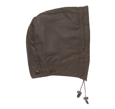 Barbour Classic Sylkoil Hood Medium Weight Wax in Olive. MHO0003OL7 side