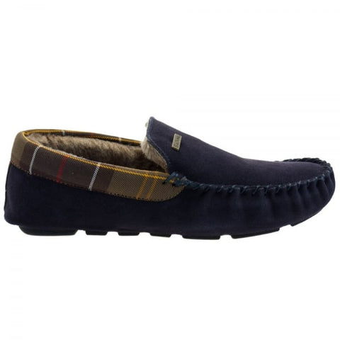 Barbour Monty Mens Moccasin Slippers in NAVY MSL0002NY52