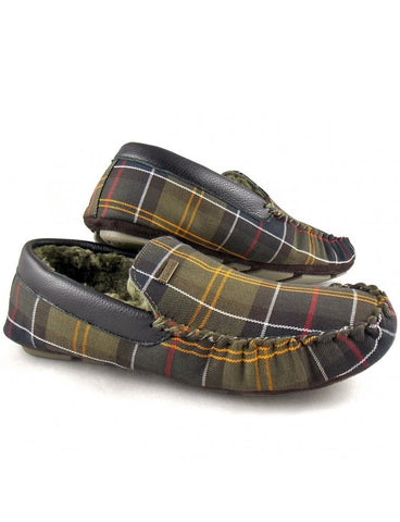 Barbour Monty Mens Moccasin Slippers in Classic Tartan MSL0002TN11