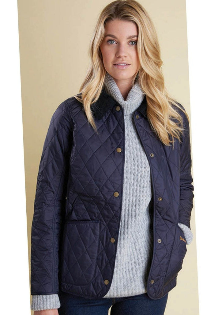 Barbour Annandale Ladies Quilted Jacket In Navy Lqu0475ny91 Smyths