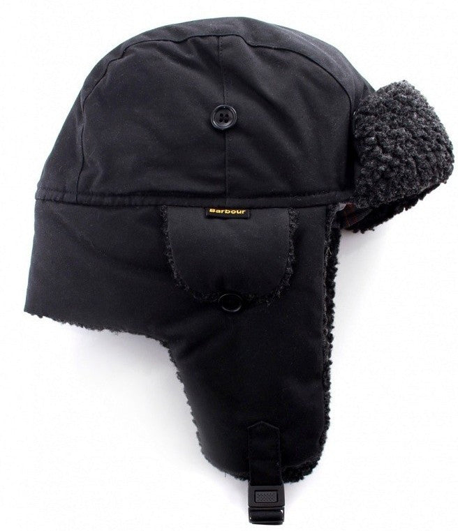 bd4a521872b Barbour Trapper Hat Fleece Lined- Black MHA0033BK11 - Smyths Country Sports