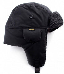 a9aa3a99e Barbour Trapper Hat Fleece Lined- Black MHA0033BK11 - Smyths Country Sports
