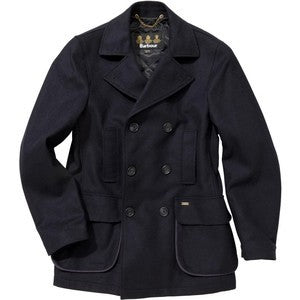 Barbour Mens Hatchlands Navy Wool Coat in Navy MWO0147NY51