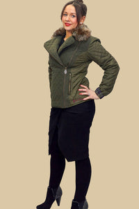 Jack Murphy Ladies Lulu Quilted Jacket in Woodland Green
