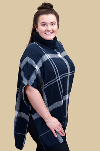 Barbour Cape Bellflower Cape now £119 in NAVY Pattern LKN02722NY91