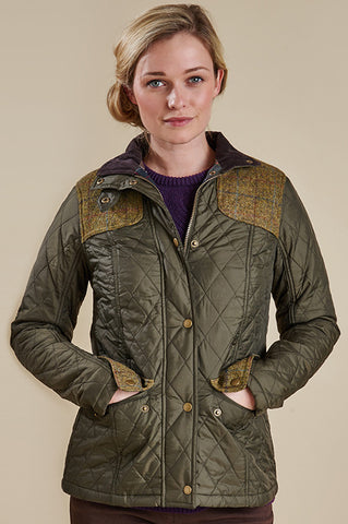Iris in Olive Barbour at Smyths