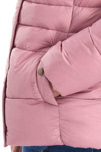 Barbour Quilt-Ullswater-Ladies Hooded Jacket-Pink-LQU1081PI32 pocket
