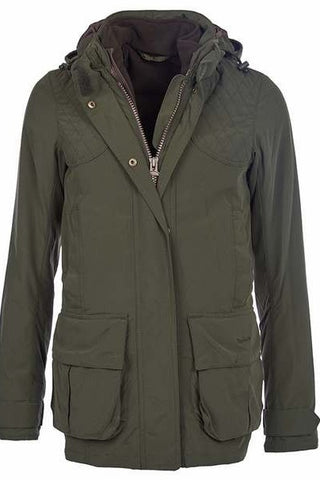 Barbour Women's Chapeldale 3 in 1Jacket in Olive LWB0307OL51