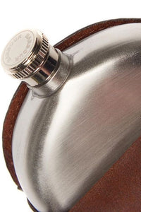 Barbour Hip Flask in brown leather MAC0165BR111