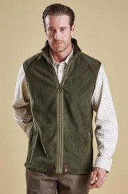 Barbour Langdale Men's Fleece Gilet in Olive Green MFL0079OL71