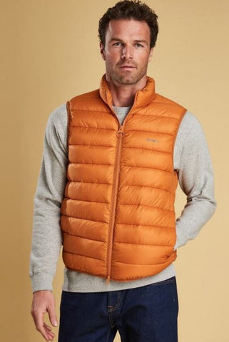 Barbour Bretby-Gilet-Orange Marmalade-MGI0024OR51 closed
