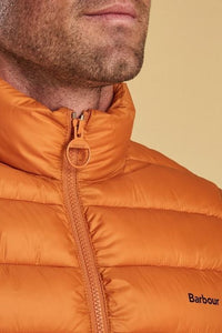 Barbour Bretby-Gilet-Orange Marmalade-MGI0024OR51 collar
