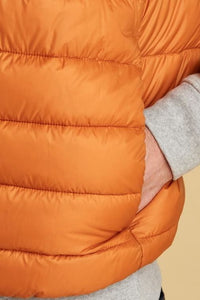 Barbour Bretby-Gilet-Orange Marmalade-MGI0024OR51 pocket