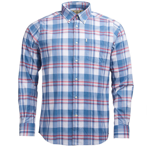 Barbour Shirt-Minster New Performance Shirt-Rich Red-MSH4443RE33 front
