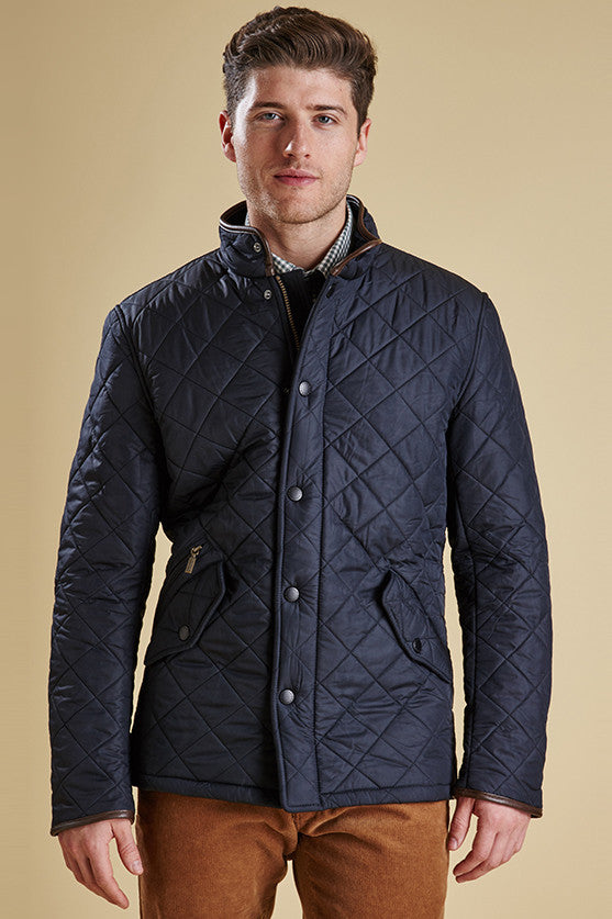 c8c64cf48dc3 Barbour Powell Mens Navy Quilted Jacket - Smyths Country Sports