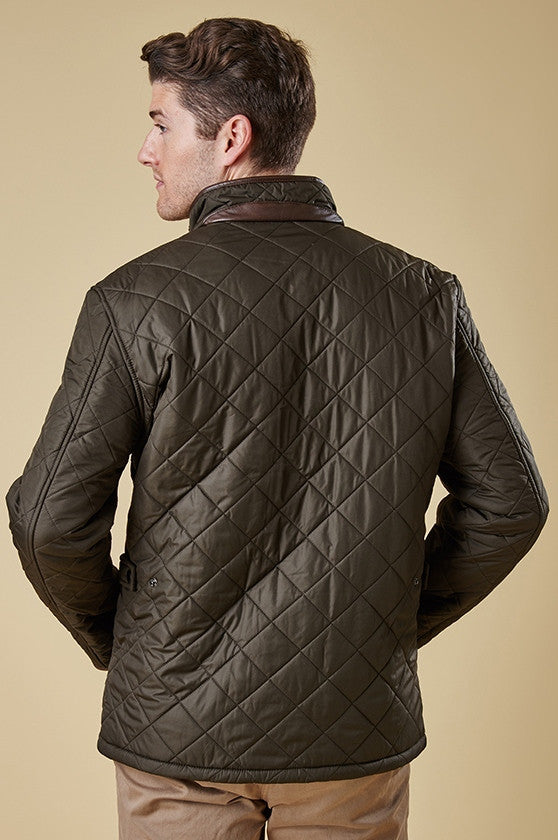 Buy brilliant Barbour Powell Mens Olive Green Quilted Jacket at ... : barbour quilted jackets - Adamdwight.com