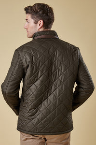 Barbour Powell Mens Quilted Jacket in Olive Green MQU0281OL51