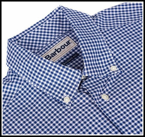 Barbour Leonard Navy gingham shirt in new Midnight MSH3334BL92