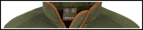 Musto Mens fleece Gilet in Dark Moss Green 013289