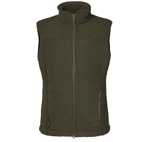 Musto Gilet Mens Melford fleece in Dark Moss Green 013289