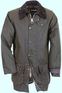 Barbour Beaufort-Classic Wax Jacket-Olive-MWX0002OL71 olive colour