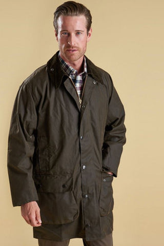 Barbour Northumbria- Classic Olive-Mens Wax Jacket-MWX0009OL91