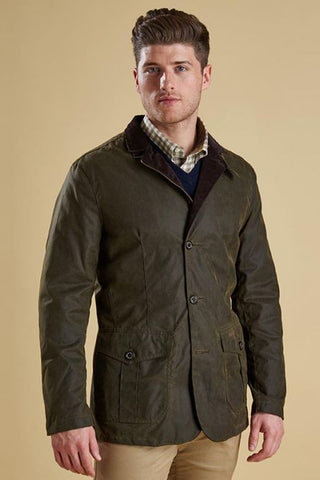Barbour Lutz Wax Jacket -Olive MWX0566OL51