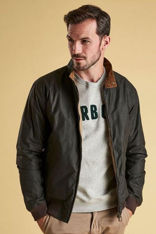 BARBOUR LIGHTWEIGHT ROYSTON-NEW WAXED COTTON JACKET -Olive-MWX1350L51