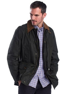 Barbour Hopsack-Mens Wax Jacket-Lightweight-Green-MWX1633GN52 front