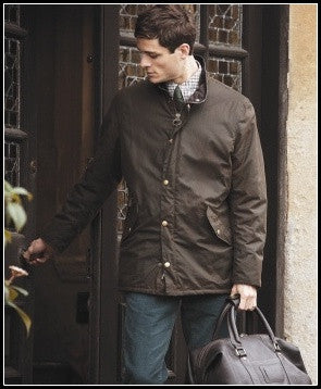 Barbour Prestbury Mens wax jacket in Olive