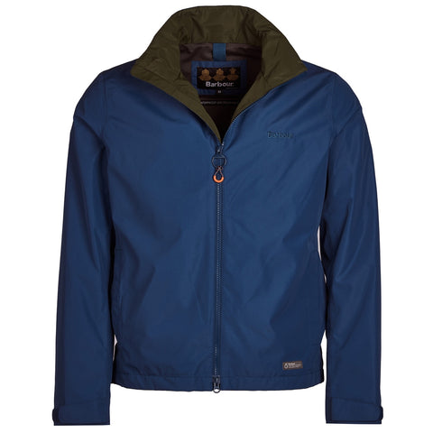 Barbour Rye Jacket-Peacock Blue-MWB0696BL55