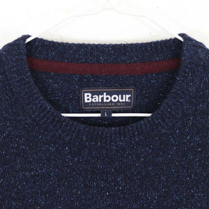 Barbour Sweater-Tisbury Crew Neck-Navy-MKN0844NY91 logo